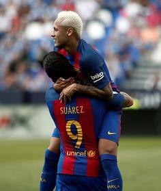Barcelona's Neymar JR celebrates after scoring a goal during the Spanish La Liga…