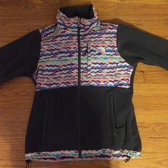 Beautiful printed gray north face jacket A very colorful printed grey north face jacket, this was worn for one winter but it has a lot left and is a beautiful pattern this is a women's size small all the zippers and pockets are in perfect condition North Face Jackets & Coats