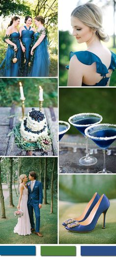 blue and green woodland and forest wedding ideas