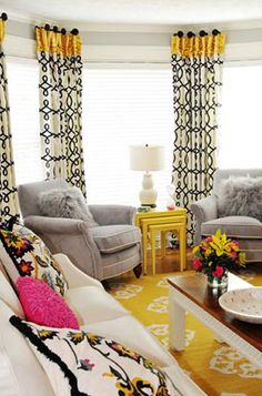 Love the curtains!  Living Room by Kandrac & Kole Interior Design | Living Rooms | A2D Photo Galleries Of Beautifully Designed and Decorated Rooms