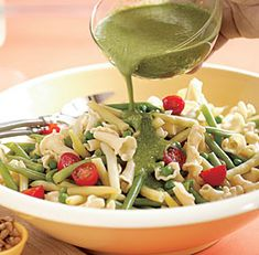 Summer Pasta Salad with Pesto Vinaigrette