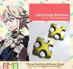 Fire Emblem Fates Corrin Brooches by ThreeSmittenKittens on Etsy