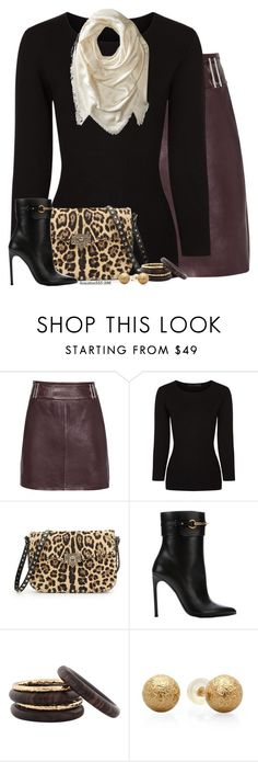 """Leather Skirt"" by houston555-396 ❤ liked on Polyvore featuring Reiss, Alexander Wang, Valentino, Gucci, Nest and Marc Jacobs"