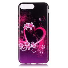 Coque iPhone 7 Plus Cœur Fleuri