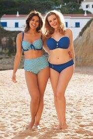 f062f1405f049 (on the left) Curvy Kate Atlantis Padded Balconette Bikini Top Deep Sea