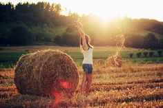 I love this picture...because the absolute BEST memories of my childhood were spent jumping hay bails in the field
