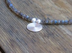 Gemstones necklace with labradorite thai sterling by MarisaBecca