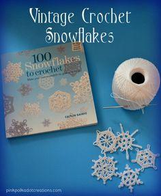 vintage crochet snow