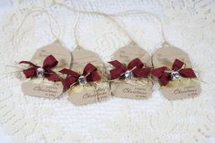 Handmade Holiday Gift Tags with jingle bells...