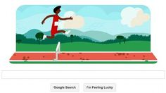 Google Doodle marks 2012 London Olympic Games with interactive game of hurdling. 7 Aug 2012
