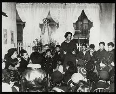 115th Street, story-telling group, African American children with Miss Pura Belpre. Digital ID: 100838