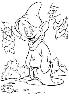 Disney Dwarf Cartoon Coloring Pages
