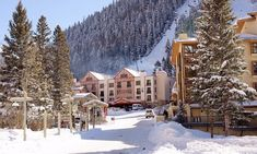 The Taos Ski Valley resort. Snowy Mountains, Rocky Mountains, Taos Ski Valley, Aspen Snowmass, Taos New Mexico, Old Steam Train, Vail Colorado, Mountain Resort, Banff National Park