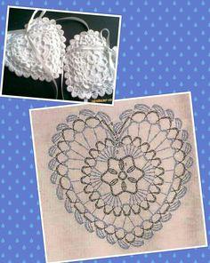 Crochet Doily Diagram, Crochet Edging Patterns, Filet Crochet, Crochet Motif, Crochet Doilies, Crochet Flowers, Crochet Christmas Decorations, Crochet Decoration, Crochet Ornaments