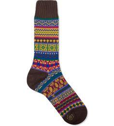 #Chup socks - #Japanese art and #manufacturing CHUP Brown Emong SOCK