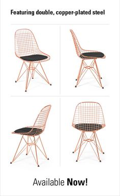 Lay Your Eyes on New Wire Chairs in Copper