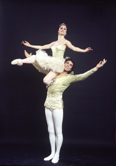 "Studio portrait of Patricia McBride and Jacques d'Amboise in costume for ""The Nutcracker"", in a New York City Ballet production of ""The Nutcracker."" (New York)"