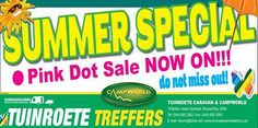 Tuinroete Woonwaens Campworld MB can't hold back the seasons but we can help you to make the best of summer with our huge Summer Specials sale. Visit our store in Voorbaai and see everything that we have marked down this season. #summerspecials #outdoor #lifestyle