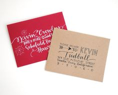 CUSTOM Envelope Addressing for Dena Modern by Emily Schoenfeld Poe-Crawford EmDashPaperCo.