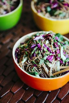 This Asian Noodle Salad, with a simple dressing, is full of flavor and takes only 20 minutes to prepare.