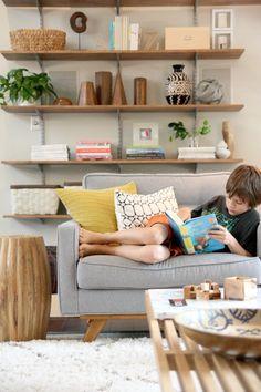 From House Tweaking blogger Dana DIY floating shelves