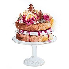 Enya is a UK based food illustrator and graphic designer who specialise in a varity of food, patisserie and florals as well as creating stunning logo designs for cake businesses. Cake Drawing, Food Drawing, Cake Sketch, Baking Logo, Dessert Illustration, Watercolor Cake, Bakery Logo Design, Cake Logo, Un Cake