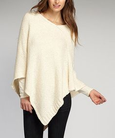 Look at this #zulilyfind! Off-White Organic Scoop Neck Poncho #zulilyfinds