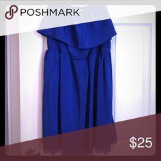 Blue summer dress Blue, lightweight party, summer dress lace bottom Dresses Maxi