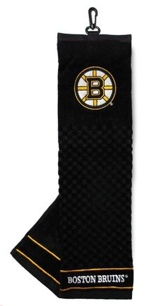 Boston Bruins Golf Towel 16x22 Embroidered