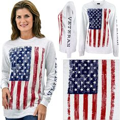 Veteran Flag Long Sleeve T-Shirt at The Veterans Site - I want one.