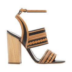 Tabitha Simmons Shaewood Sandal ($1,095) ❤ liked on Polyvore featuring shoes, sandals, neutrals, black fringe sandals, black heel sandals, black ankle wrap sandals, tan heel sandals and ankle strap shoes