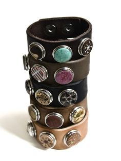 Leather bracelets from Noosa Amsterdam, cool!
