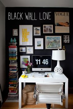 black wall love