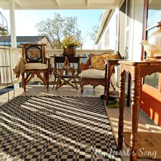 My Heart's Song: Furnishing a front porch.