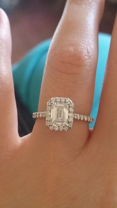 Emerald Cut Ladies Lets See Your Sparkle! (Show off your rings! Emerald Cut Engagement, Dream Engagement Rings, Solitaire Engagement, Black Diamond Bands, Diamond Wedding Rings, Bridal Rings, Wedding Jewelry, Wedding Band Sets, Wedding Bells