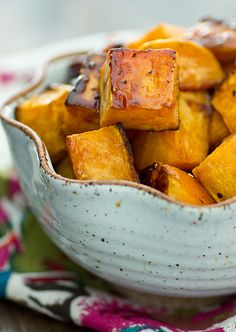Apple Cider Glazed Sweet Potatoes from Oh My Veggies