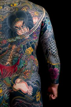 colorful-japanese-tattoos-3D-Chest.jpg (750×1125)