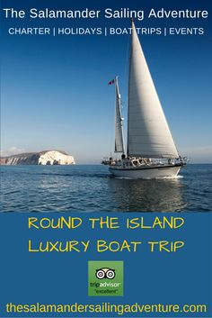 Full-day, 2 or 3 day luxury Round the Island sailing adventure circumnavigating the Isle of Wight. Experience sailing around the Island in 1 day as 1000's of sailors do in the famous Round the Island Race, or at a more leisurely pace, stopping at idyllic anchorages, Lymington, Yarmouth, Bembridge, Cowes, Beaulieu Rivers. Experience living aboard Salamander luxurious 58 ft ocean going round the world yacht…