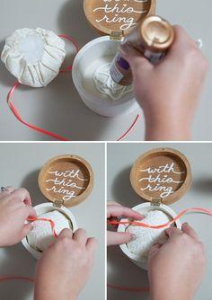DIY Wedding -- Wooden ring bearer pillow box!
