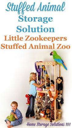 The Little Zookeepers Stuffed Animal Zoo is a simple way to get an already manufactured storage solution for your child's stuffed animals that is both fun and useful {featured on Home Storage Solutions 101} #StuffedAnimalZoo #StuffedAnimalStorage #StuffedAnimalOrganization