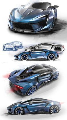 W Motors Fenyr Supersport: designs sketches