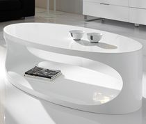 Table basse ovale blanc laqué design EGG | Table basse design ...