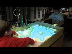 Interactive topographic map from a sand box! - YouTube