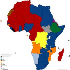 Where African countries got their independence from.
