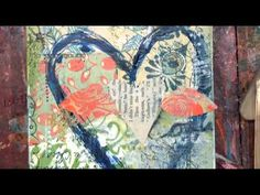 Christy Tomlinson Mixed Media Collage Video: February 2013 Part 2 - YouTube