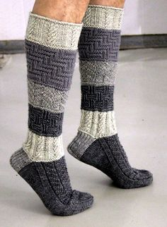 Ravelry: Isukille pattern by Sari Suvanto Wool Socks, Knitting Socks, Knitting Stitches, Hand Knitting, Knitting Patterns, Crochet Patterns, Crochet Slippers, Knit Crochet, Sock Toys
