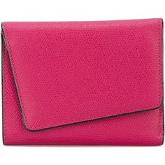Valextra twisted cardholder wallet (223.875 HUF) ❤ liked on Polyvore featuring bags, wallets, pink, valextra bag, pink wallet, valextra wallet, calfskin wallet and pink bag