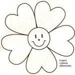 molde flor feliz