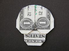 Dollar bill skull...