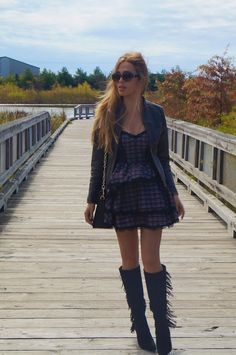 NEW: Outfit of the Day http://www.clubfashionista.com/2013/10/it-is-all-rock-n-roll-baby.html  #outfit #rock #look #trendy #ClubFashionista #FringeBoots #fall